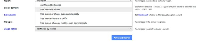 Google Advanced Search example