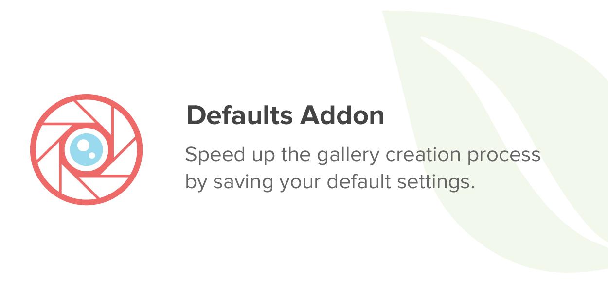 Defaults Addon