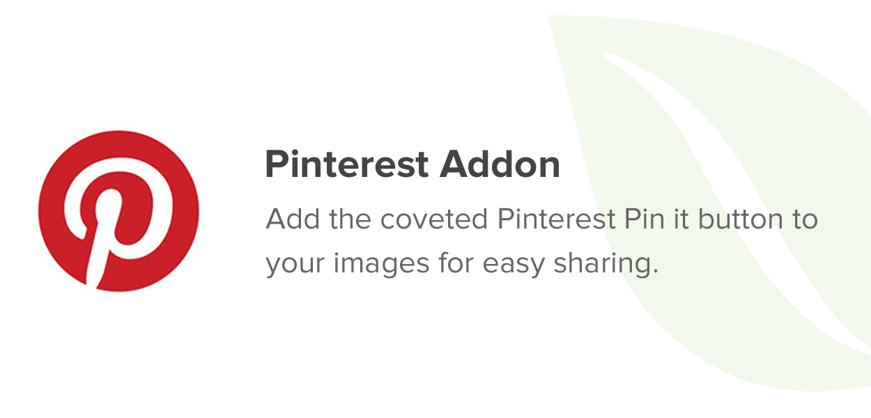 Pinterest Addon
