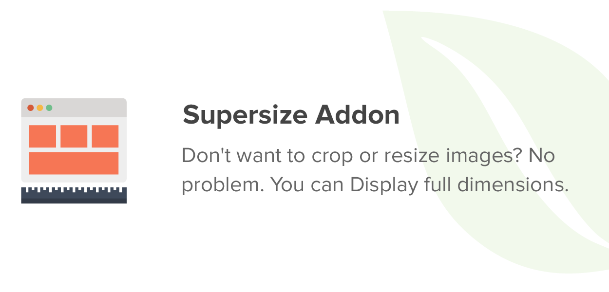 Supersize Addon