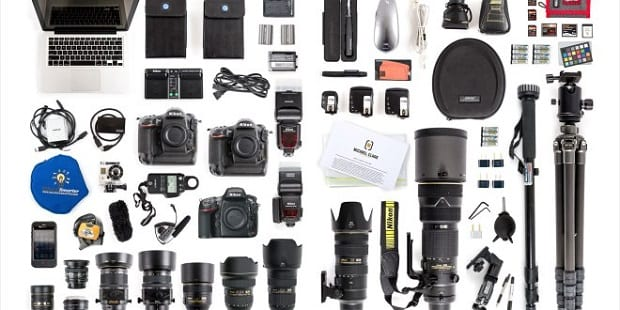 A variety of photo accessories