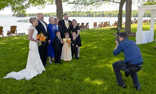 Photographing the bride's family