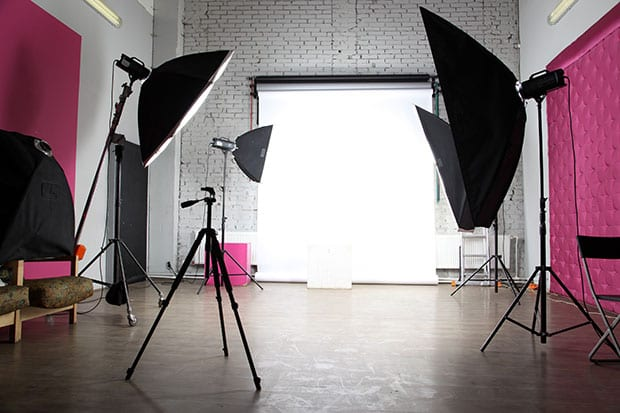Indoor Backdrop and Lighting Set