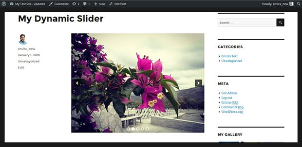 Image Slider For Your WordPress Galleries