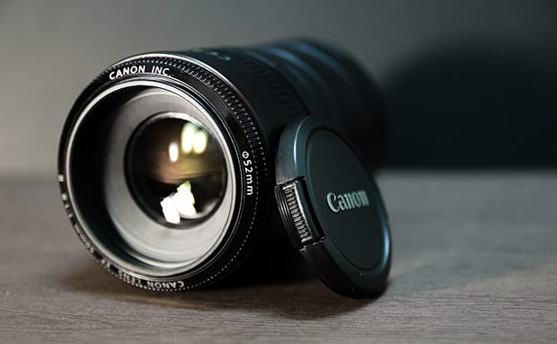 Closeup of a Camera Lens