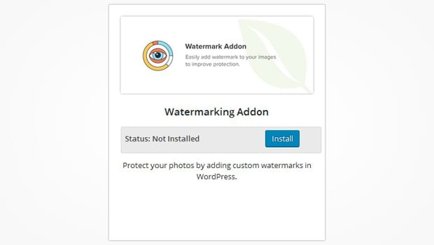 Watermarking Addon
