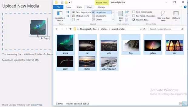 Add Photos in Media Library
