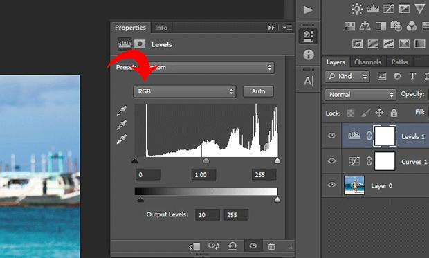 Adjust Levels RGB