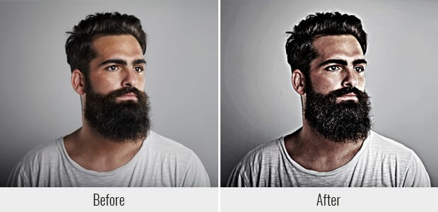 Dramatic Portrait Effect Before and After