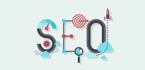 "SEO for Photographers Header: The letters ""SEO"" decorated with props"