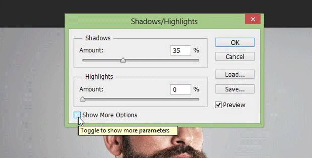 Shadow / Highlight Settings