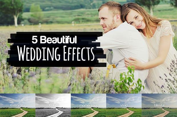 5 beautiful wedding effects
