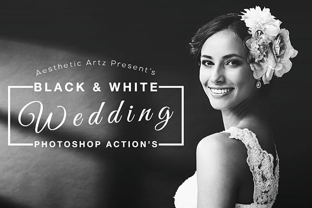 black and white wedding actions