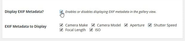 Enable Exif Data