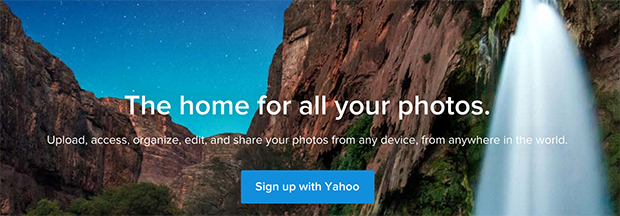 flickr yahoo button