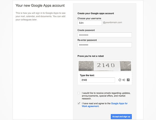 Google Apps Account