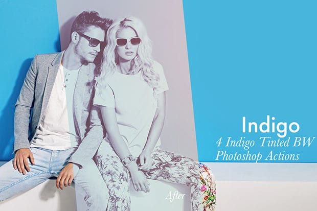 Indigo - 4 Photoshop Actions