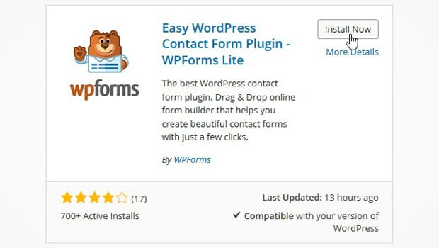 Simple Contact Form WPForms