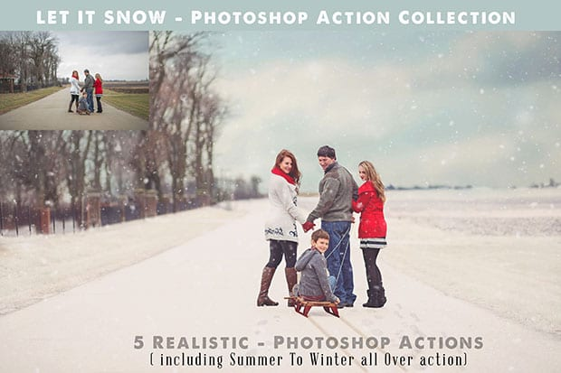 Photoshop Snow Action