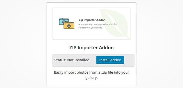 Zip Importer Addon