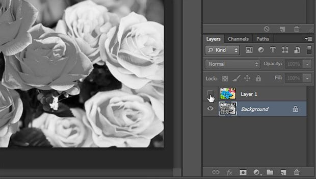 Desaturate Background Layer