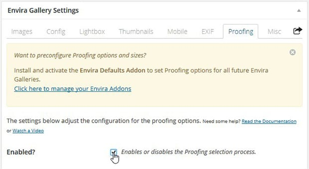 Enable Proofing