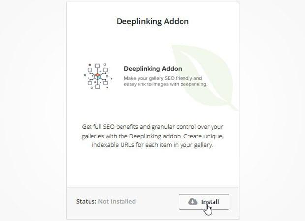 Deeplinking Addon