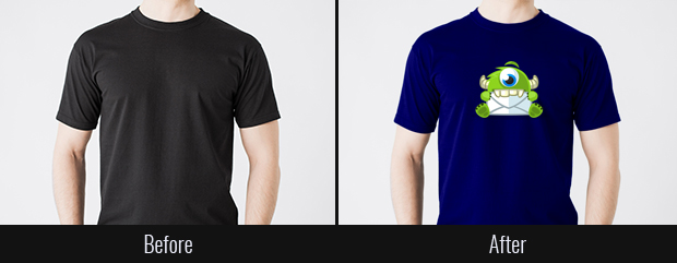 Before and After T-shirt Mockup