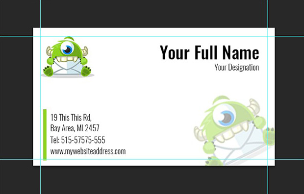 How to create a business card template in photoshop business card template wajeb Image collections