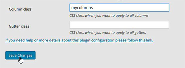Configure Advanced WP Columns Plugin