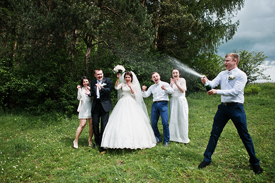 crazy wedding poses
