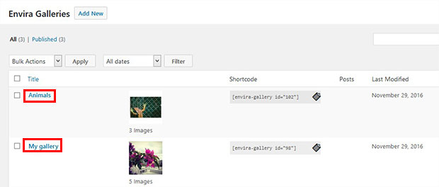 Galleries Imported