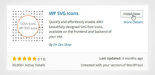Install WP Svg Icons