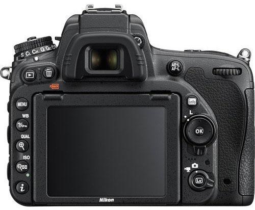 Nikon D750 Back View