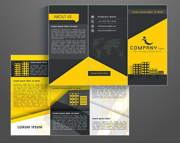 How To Create A Brochure Template In Photoshop - Basic brochure template