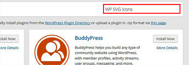 Search WP SVG Icons