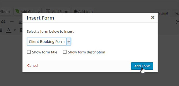 Selecting Your Form
