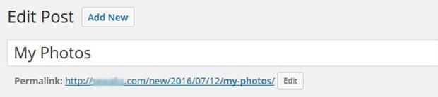 Slug URL