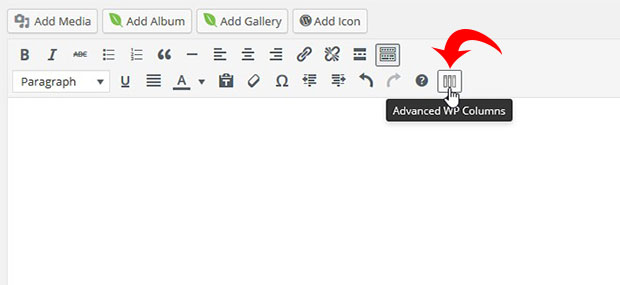 Advanced WP Columns Button