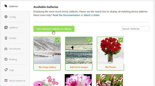 Add Galleries
