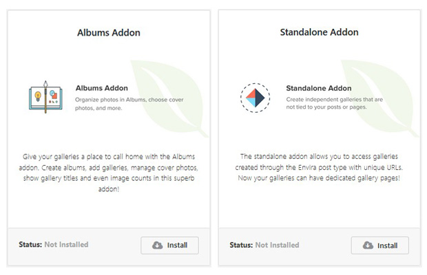 Albums and Standalone Addon