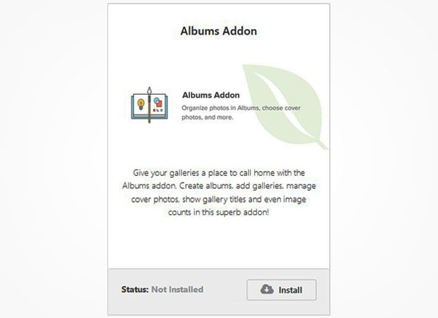 Albums Addon
