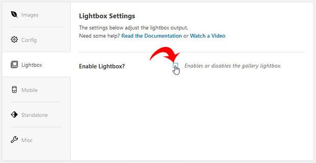 Enable Lightbox