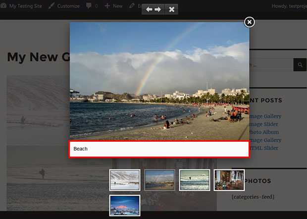 Lightbox with Caption in WordPress