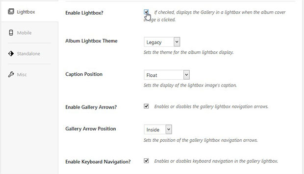 Enable Lightbox