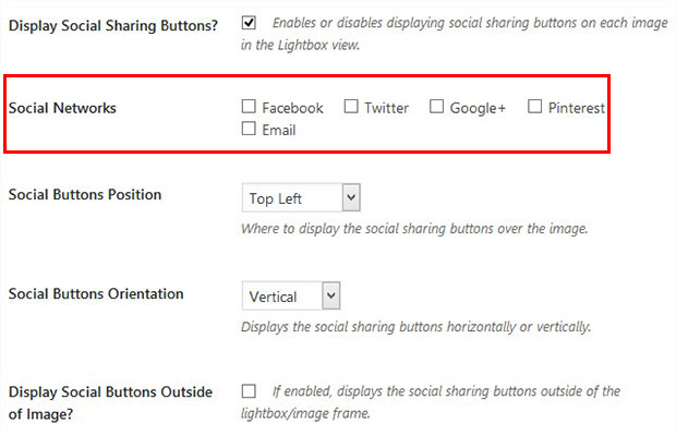 Enable Social Share Button
