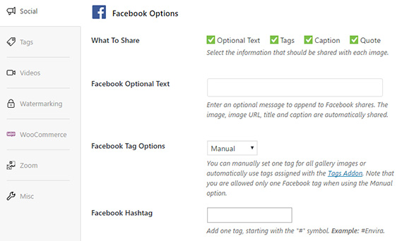 New social sharing options for Facebook