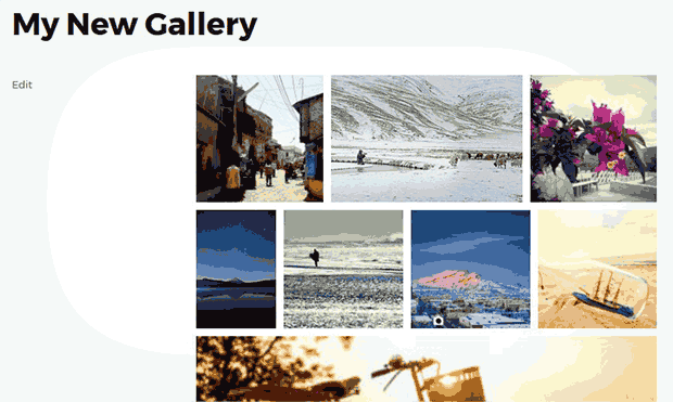 Gallery with Random Image Sizes