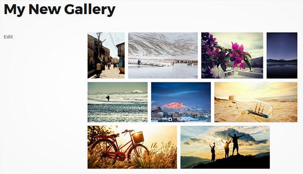 Space Between Images in Galleries