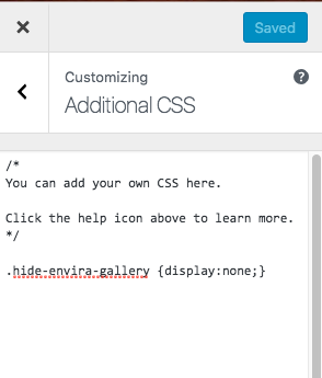 add your custom css to hide the class